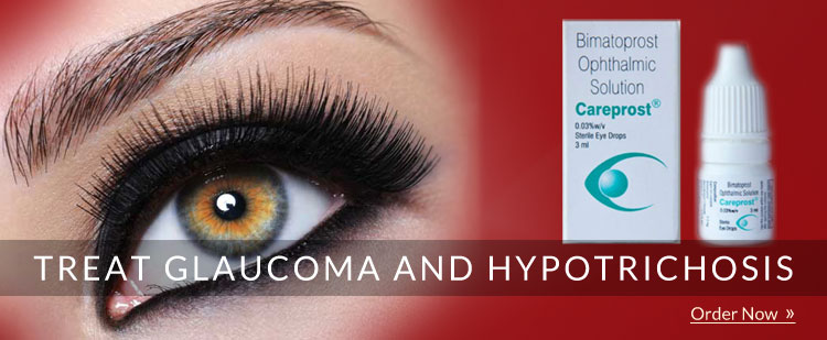 Careprost eye drop for eyelash growth